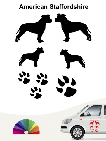 Hunde-Autoaufkleber American Staffordshire 12 von Anfalas.de