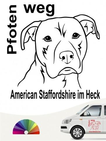 American Staffordshire Pfoten weg Aufkleber anfalas.de
