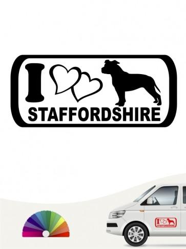 I Love Staffordshire Aufkleber anfalas.de