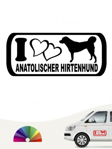 I Love Anatolischer Hirtenhund Aufkleber anfalas.de