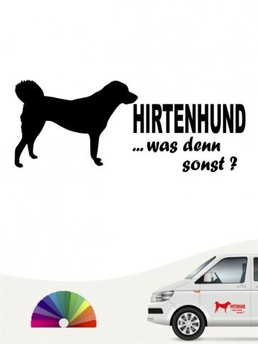 Hirtenhund was denn sonst Autoaufkleber anfalas.de