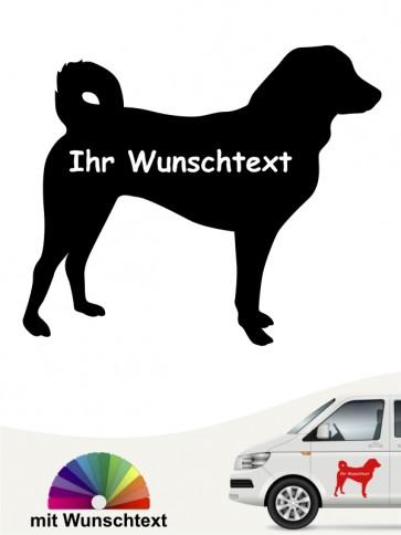 Appenzeller Sennehund Silhouette mit Wunschtext anfalas.de