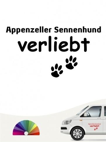 Hunde-Autoaufkleber Appenzeller Sennenhund verliebt von Anfalas.de