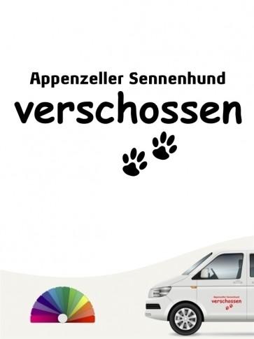 Hunde-Autoaufkleber Appenzeller Sennenhund verschossen von Anfalas.de