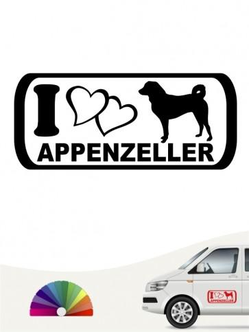 I Love Appenzeller Hundeaufkleber anfalas.de