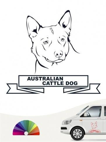 Hunde-Autoaufkleber Australian Cattle Dog 15 von Anfalas.de