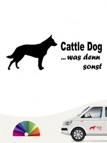 Cattle Dog was denn sonst Autosticker anfalas.de