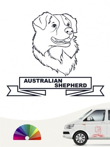 Hunde-Autoaufkleber Australian Shepherd 16 von Anfalas.de