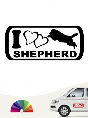 I Love Shepherd Autosticker anfalas.de