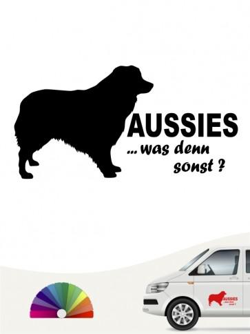 Aussies was denn sonst Autoaufkleber anfalas.de