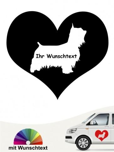 Australian Silky Terrier Herzmotiv mit Namen anfalas.de