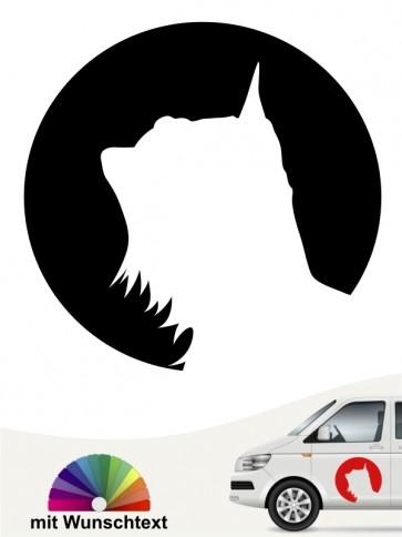 Australian Silky Terrier Autoaufkleber mit Wunschtext anfalas.de