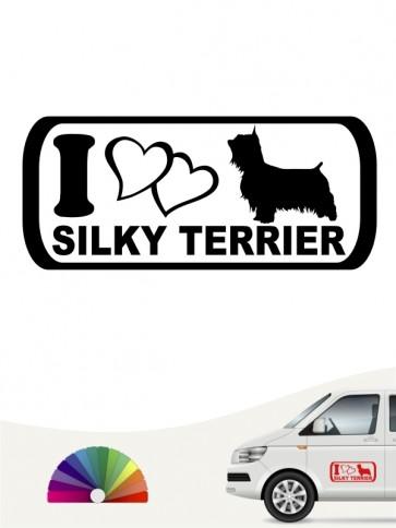 I Love Silky Terrier Autoaufkleber anfalas.de
