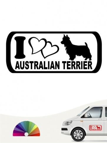 I Love Australian Terrier Hundeaufkleber anfalas.de