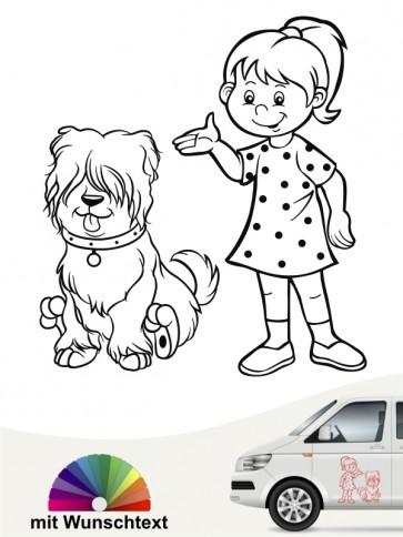 Hunde-Autoaufkleber Kind & Hund 26 von Anfalas.de
