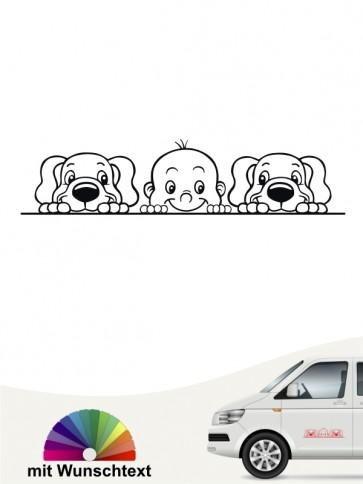 Hunde-Autoaufkleber Kind & Hund 31 von Anfalas.de