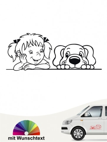 Hunde-Autoaufkleber Kind & Hund 38 von Anfalas.de