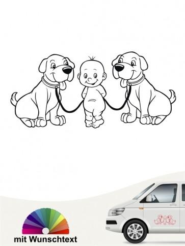 Hunde-Autoaufkleber Kind & Hund 40 von Anfalas.de