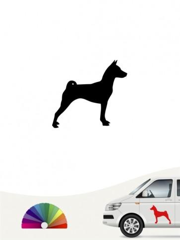 Hunde-Autoaufkleber Basenji 1 Mini von Anfalas.de