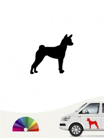 Hunde-Autoaufkleber Basenji 1a Mini von Anfalas.de