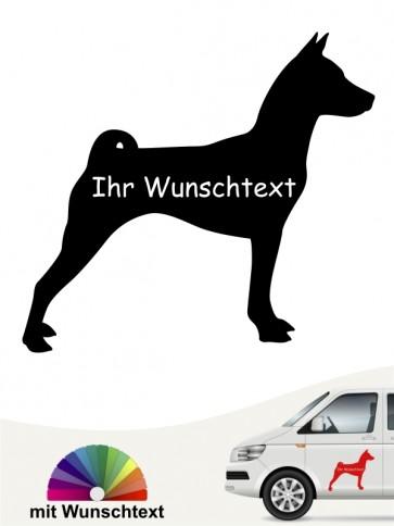 Basenji Silhouette mit Wunschtext anfalas.de