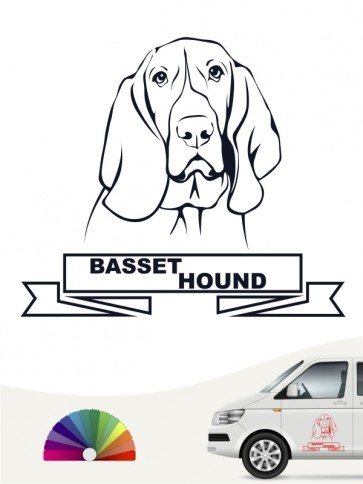 Hunde-Autoaufkleber Basset Hound 15 von Anfalas.de