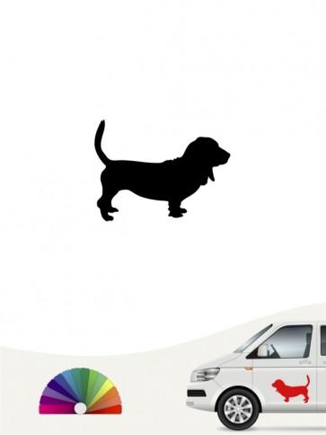 Hunde-Autoaufkleber Basset Hound 1 Mini von Anfalas.de