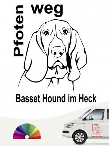 Pfoten weg Basset Hound Aufkleber anfalas.de