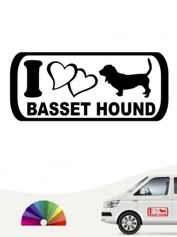 I Love Basset Hound Aufkleber anfalas.de