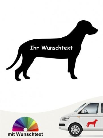 Bay. Gebirgsschweißhund Silhouette mit Namen anfalas.de