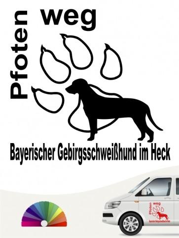 Bay. Gebirgsschweißhund Pfoten weg Aufkleber anfalas.de