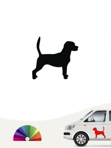 Hunde-Autoaufkleber Beagle 1 Mini von Anfalas.de