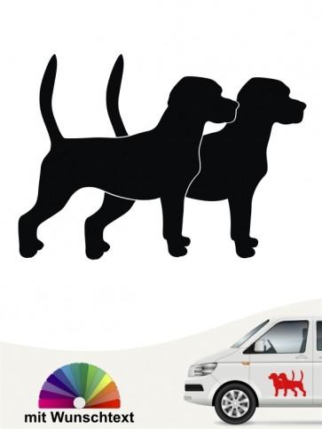 Beagle Silhouetten Aufkleber anfalas.de