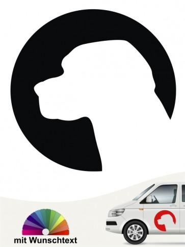 Beagle Hundeaufkleber für das Auto von anfalas.de