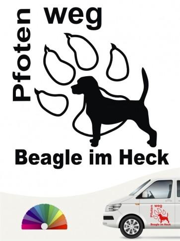 Beagle Pfoten weg Autoaufkleber anfalas.de