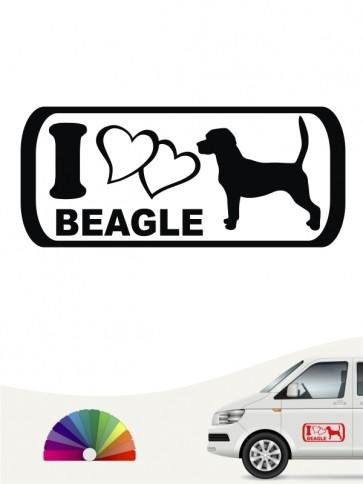 I Love Beagle Hundeaufkleber anfalas.de