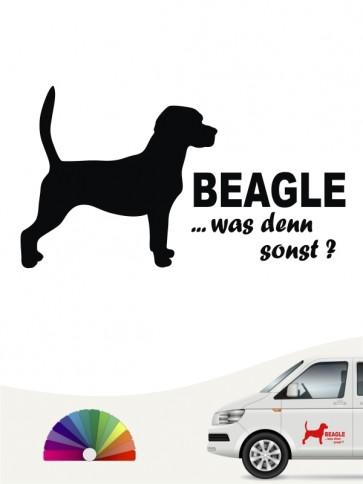 Beagle was denn sonst Autoaufkleber anfalas.de