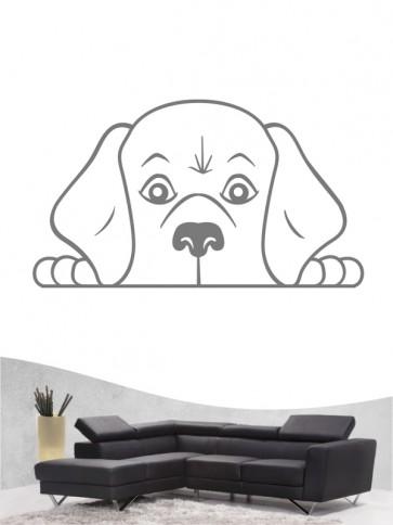 Beagle Comic 1 - Wandtattoo