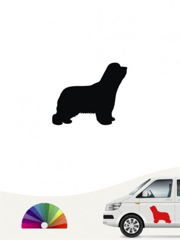Bearded Collie Autosticker anfalas.de