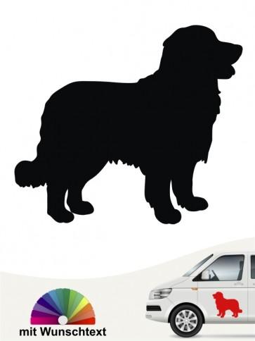 Berner Sennenhund Autosticker mit Wunschtext anfalas.de