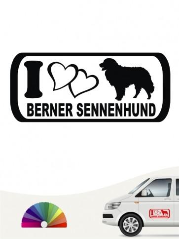 I Love Berner Sennenhund Autoaufkleber anfalas.de