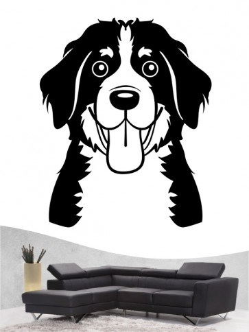 Berner Sennenhund Comic 3 - Wandtattoo