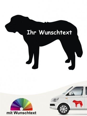 Bernhardiner Silhouette mit Wunschtext anfalas.de