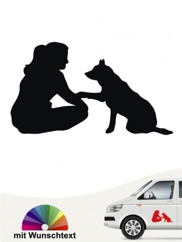 Hundeaufkleber Best Friend Motiv von anfalas.de