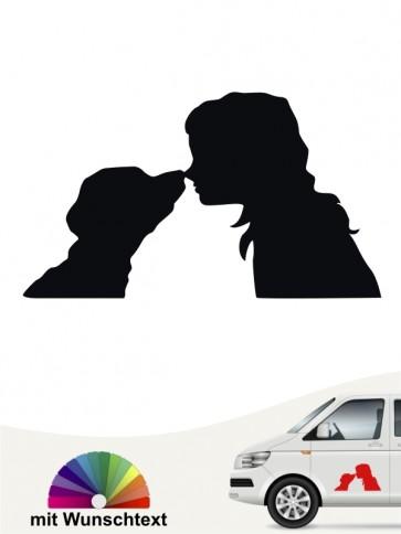 Beste Freunde Mensch und Hund Autoaufkleber von anfalas.de