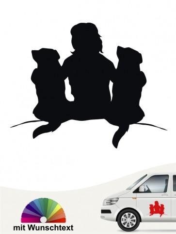 Beste Freunde Hundesticker by Anfalas.de