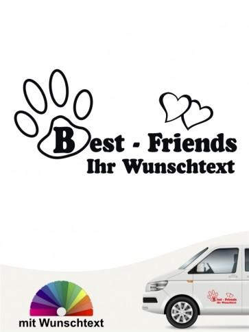 Best Friend Heckscheibenaufkleber mit Wunschtext von anfalas.de