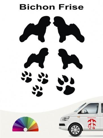 Hunde-Autoaufkleber Bichon Frise 12 von Anfalas.de