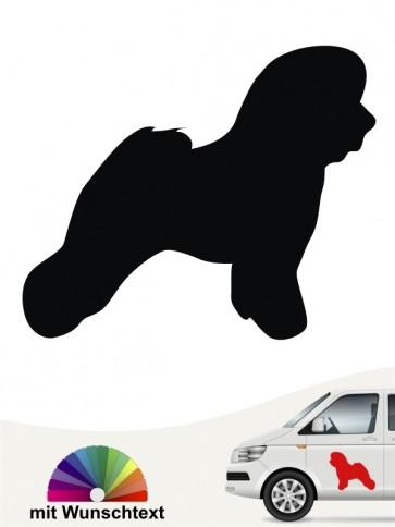 Bichon Frise Hundeaufkleber mit Wunschtext anfalas.de