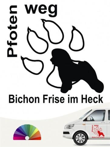 Bichon Frise Pfoten weg Autoaufkleber anfalas.de